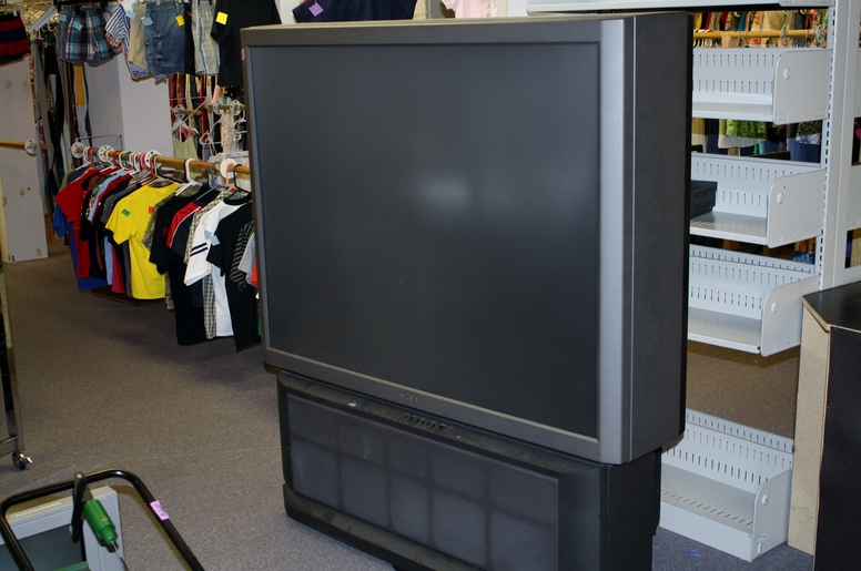 Helping Hands Thrift Store Big TV.JPG