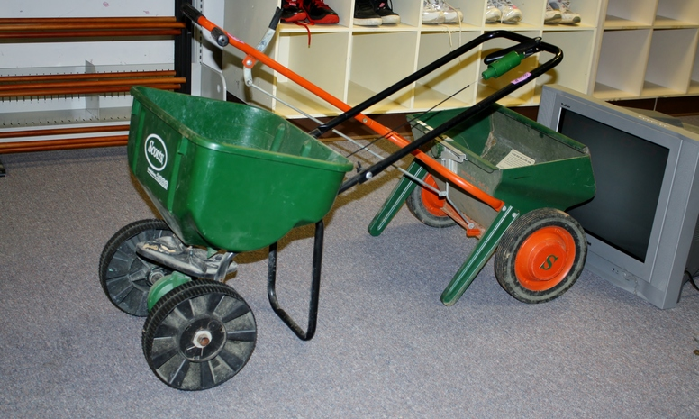 Helping Hands Thrift Store Lawn Spreaders.JPG