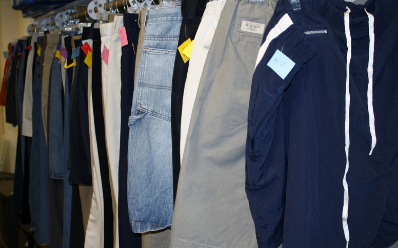 Helping Hands Thrift Store Mens Clothes.JPG
