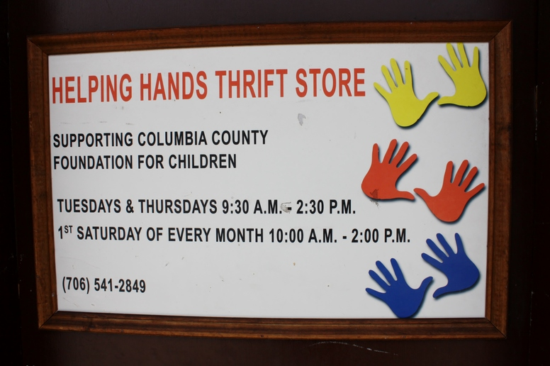 Helping Hands Thrift Store Sign.JPG