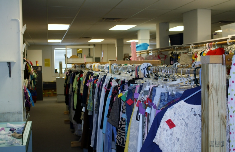 Helping Hands Thrift Store Womens clothes.JPG